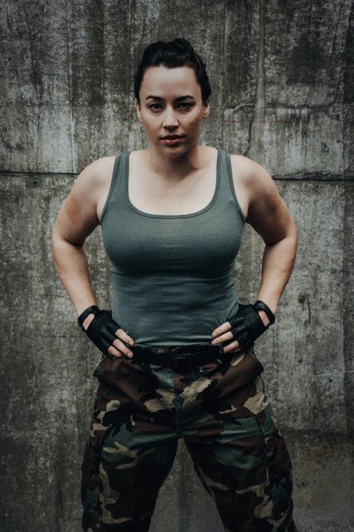 Melissa Topscher is Titus Lartius (Source: Julia Nardin)