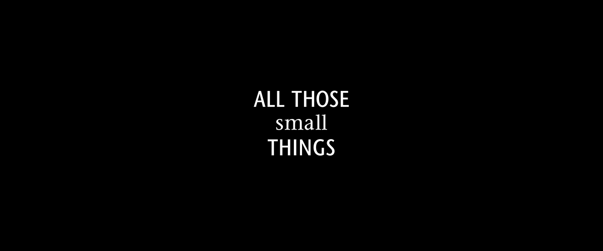 All Those Small Things